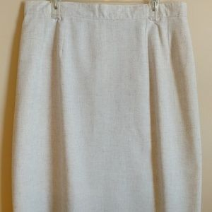 Sag Harbor linen blend skirt